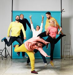 Awesome energy in Note Design Studio's group photo. Note Design Studio, Photo Grouping, Group Photos, Wall Colors, Stockholm, Bright Colors, Furniture Design, Notes, People