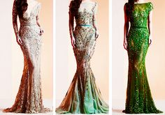 Gorgeous green gowns