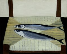 William Scott, [Mackerel on a Chair], 1949 or 1950, Oil on canvas, 40.6 × 50.8 cm / 16 × 20 in, Private collection