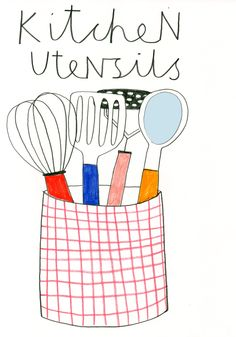 herbert green - fun play on just the basic utensils you use every day.