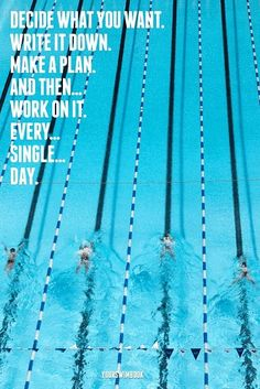Everything you ever wanted to know about Michael Phelps, the greatest swimmer of all time. Usa Swimming, Swimming Memes, I Love Swimming, Swimming Sport, Motivation Sportive, Sport Motivation, Triathlon Motivation, Citations Sport, Swimming Posters