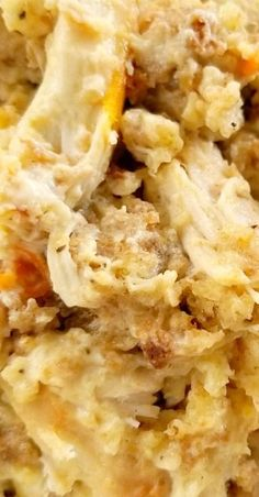 A comfort food casserole recipe with Pepperidge Farm stuffing, sour cream and chicken. Chicken And Dressing Casserole, Chicken Stuffing Casserole, Chicken Dressing, Casserole Dishes, Breakfast Casserole, Dinner Casserole Recipes, Recipe For Chicken Casserole, Chicken Casserole With Stuffing, Casseroles With Chicken
