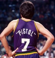 """The late, great, """"Pistol"""" Pete Maravich. His NCAA records will never be broken...never...ever!"""