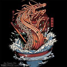 'Ramen Dragon' Poster by Ilustrata Design Art Pop, Vexx Art, Japanese Art Modern, Japon Illustration, Food Drawing, Japan Art, Copics, Art Drawings, Cool Art