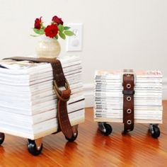 Got a bunch of old magazine laying around? Create a stool out of them!