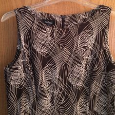 Brown and white career dress Career dress,  size 16.  Brown and white.   Material not see thru, great for office AGB Dresses
