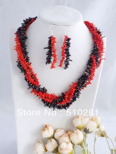 Free Shipping!!! Coral Jewelry Set Wedding Necklace $47.56