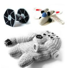 PDF of Star Wars Ships  - Crochet Amigurumi Patterns - Millennium Falcon - XWing - Tie Fighter