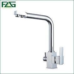 68.77$  Watch here - http://alih8u.worldwells.pw/go.php?t=32674073980 - FLG Square Filter Faucets Kitchen 3 Way Water Tap Dual Lever Kitchen Taps Chrome Musluk Deck Mounted Water Purifier Faucet J007 68.77$