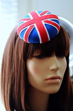 fascinator?  pin cushion?  I haven't found the fascinator of my dreams yet.  may have to make one myself  #unionjack #anglophile