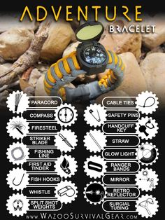 Nice EDC Survival Bracelet with everything but, the Kitchen Sink! a tad Expensive tho! :)