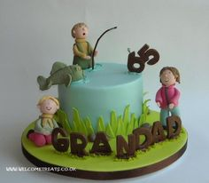 65th Birthday Fishing Cake Cake by welcometreats