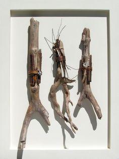 """Three Bundles (18""""w x 24""""h).     Courtesy: Cynthia Minden, Artist, Sculptor. Denman   Island, BC (Canada)."""