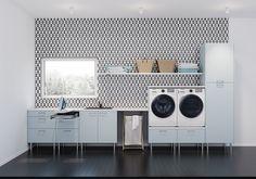 Smarte løsninger - kjøkken fra Epoq - kjøp hos Elkjøp! Bad Inspiration, Bathroom Inspiration, Kitchen Decor, New Homes, Home Appliances, Interior, Home Decor, Laundry Rooms, Design