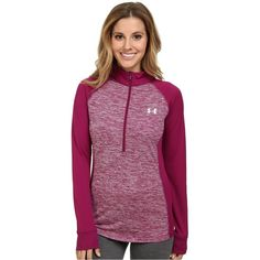 Under Armour UA Twisted Tech 1/2 Zip Women's Sweatshirt, Pink ($31) ❤ liked on Polyvore