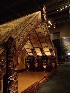 Maori architecture, Te Papa Museum, Wellington, New Zealand