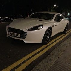 Sweet angel Aston Martin Rapide S on the road!