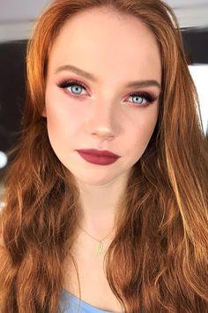 36 Ideas For Natural Bridal Makeup ❤ natural bridal makeup red lips long lashes pink eyeshadows polczykmua #weddingforward #wedding #bride #naturalbridalmakeup #weddingmakeup