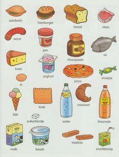 English Grammar Book, English Food, English Vocabulary, Dutch Phrases, Dutch Words, Learn Dutch, Learn English, Learning English For Kids, Teaching English