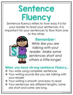 Fluency is important in essay writing to engage the reader. English Writing Skills, Book Writing Tips, Writing Lessons, Writing Workshop, Writing Process, Writing Journals, Learning English, Writing Traits, Narrative Writing