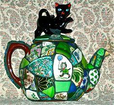 Black Cat Teapot by Norma Ryan