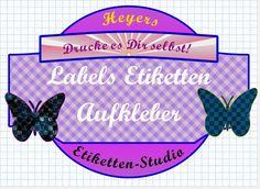 Etiketten - Das Etiketten-Studio für Deine schönsten Aufkleber - ein Designerstück von schmuckeHexe bei DaWanda Studio, Etsy, Personalized Items, Cards, How To Make, Fun, Sticker, Label Tag, Decals