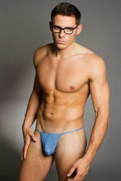 Thong Erect in man naked