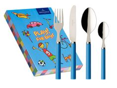 #Blue kid's cutlery set with a book! | Villeroy & Boch