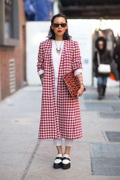great coat Prada coat, Saint Laurent shoes   - HarpersBAZAAR.com