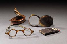 Spectacles, glass, snuffbox and cardcase of J. M. W. Turner (1775 - 1851) [1]