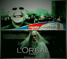 Si Dumbledore était dans une publicité, j'achète le produit á 100%. Si tu dis que ses cheveux ne sont pas parfaits, tu serais dans le faux Love Memes Funny, Loreal Paris, Parfait, Movie Posters, Movies, Hair, Film Poster, Films, Movie