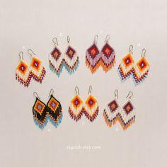 Beaded earrings by ZIGUIDI on Etsy