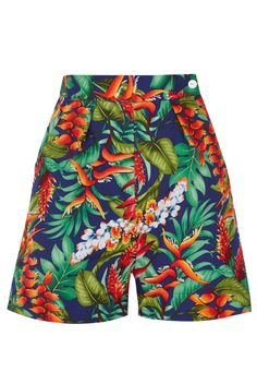 TARA STARLET Our high-waisted, 1940's inspired Hawaiian Shorts will have you booking a holiday in the sun just so you can wear them all year round! Pair with our matching Halter Top or another print from our mix