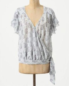 Anthropologie Hedera Wrap Blouse
