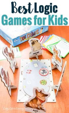 Get the best logic board games for kids to teach your kids reasoning, deductive reasoning skills, and problem-solving skills while having fun at the same time.  #boardgames #logicgames #homeschool #homeschooling