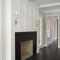 Wainscot Over Fireplace