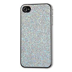 #zgallerie - $19.95 - Show your savvy sense of style by accessorizing your phone with our Silver Sparkle iPhone case. The hard-shell snap-on case securely protects your phone while giving it a whole lot of glamour, with the back covered in sparkly acrylic crystals. I need a new IPhone case, mine is dyeing.