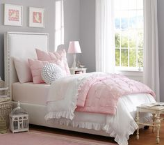Audrey Quilted Bedding - Light Pink