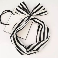 Ribbon Metal Wire Wide Headband Stripe Black White Nee, never used. ✨Save $$$ when bundling with other items. NO TRADE Accessories Hair Accessories