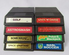 Intellivision Game Cartridge Lot of 8 Games - Advanced Dungeons & Dragons Advanced Dungeons And Dragons, Retro Video Games, Video Game Console, Poker, Hong Kong, Golf, Ads, Ebay, Turtleneck