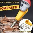 Just own a chisel set, you can make your angle grinder into a power chisel. Fit for 100 Angle Grinder. -Power depends on your angle grinder. (This product does not include Angle Grinder. Wood Turning Chisels, Chisel Set, Construction Tools, Angle Grinder, Work Tools, Cool Inventions, Diy Tools, Woodworking Projects, Woodworking Bench