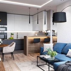 Importance Of Open Concept Kitchen Living Room Small House Interior Design 51 - sitihome Small House Interior Design, Small Room Design, Interior Design Kitchen, Kitchen Room Design, Living Room Kitchen, Kitchen Ideas, Small Living Rooms, Living Room Designs, Appartement Design