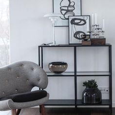 Ikea 'Vittsjö' shelf with design classics @louispoulsen