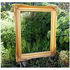Vintage 1940s GOLD Gilt Compo Gesso Picture Frame w/ Hand Carved Hand... ($50) ❤ liked on Polyvore featuring home, home decor and frames