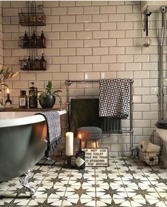 Bathroom Inspiration // My Inspiring Interior The Perfect Scandinavian Style Home Source by decor scandinavian Bad Inspiration, Bathroom Inspiration, Interior Inspiration, Bathroom Interior Design, Home Interior, Interior Decorating, Bohemian Interior, Scandinavian Style Home, Victorian Bathroom