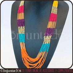 El collar de cuentas multicolor Rainbow tiene los tonos perfectos para subir el ánimo del más pesimista. ¡Verás cómo te cambia el humor con sólo ponértelo! ¿Lo probamos? http://www.conjuntados.com/collares/collar-de-cuentas-multicolor-rainbow.html #necklaces #fashion #accesorios #complementos #bisuteria #jewelry #bijoux #shopping #trendy #tendencias #tendances #moda #estilo #style #PymesUnidas