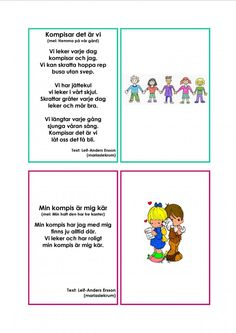 Mariaslekrum - Illustrerade sånger. Learn Swedish, Swedish Language, Busa, Singing, Preschool, Learning, Tips, Kid Garden, Studying