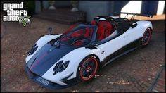 Смотреть онлайн видео GTA 5 Mods — Pagani Zonda Cinque Roadster Super Car Mods ! (GTA 5 Mods Showcase)