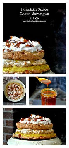 Bakeaholic Mama: Pumpkin Spice Latte Meringue Cake