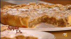 VIDEO LA7: INGREDIENTI PER 'APPLE PIE' 1 kg di mele il succo di ½ limone 250 gr di zucchero cannella qb 2 rotoli di pasta brisè biscotti secchi qb bur